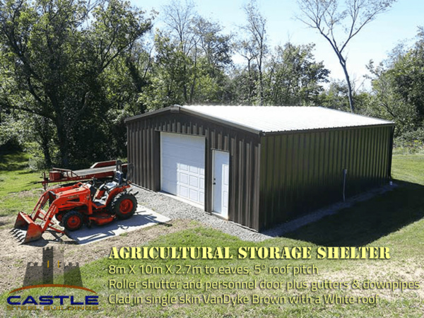 Storage Shelter with details