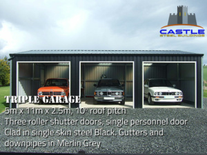 Triple Garage with details
