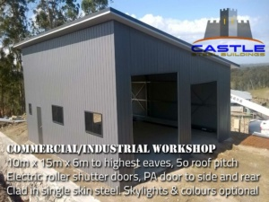 Commercial Industrial Workshop with details