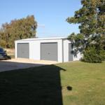 Double Garage Steel Building