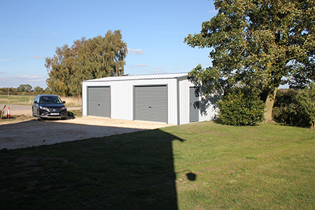 Double Garage Steel Building